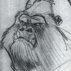 Kerchak Concept, Tarzan, Disney, 1996