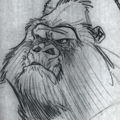 Kerchak Concept, Tarzan, Disney, 1996 Find more at https://www.facebook.com/CharacterDesignReferences if you ar looking for: #art #character #design #model #sheet #illustration #best #concept #animation #drawing #archive #library #reference #anatomy #traditional #draw #development #artist #animal #animals #apes