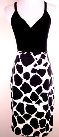 Ann Taylor Loft Cow Print Skirt Size 8-- I have this skirt, but Im not sure I've ever worn it.