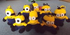 Minyonok II Minions Minion Crochet Madebyme