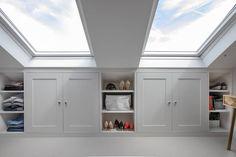 Alcove Wardrobe, Wardrobe Design Bedroom, Built In Wardrobe, Loft Conversion Wardrobes, Loft Conversion Bedroom, Bedroom Cupboard Designs, Bedroom Cupboards, Loft Room, Bedroom Loft