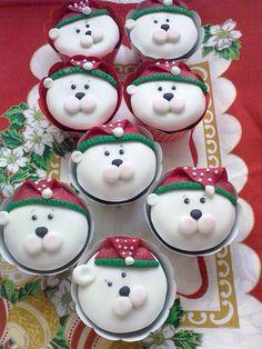 Cupcakes osos polares
