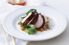 This is a delicious Asian-fusion marinade that is perfect for pork chops and pork tenderloin.