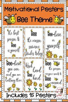 Classroom Bulletin Boards, Classroom Posters, Classroom Themes, Classroom Organization, Classroom Management, Montessori Classroom, Bee Puns, Bee Activities, Working Bee