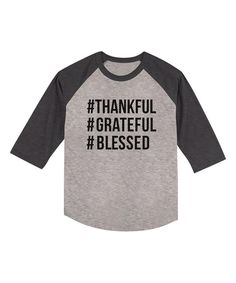 Look at this Heather Gray 'Hashtag Thankful' Tee - Toddler & Kids on #zulily today!