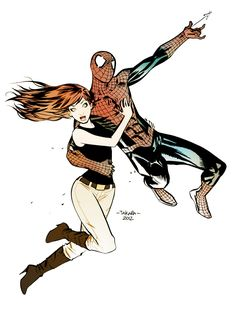 Spider-Man & Mary Jane // artwork by Marcio Takara (2012)
