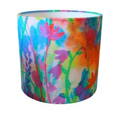 Floral ink lampshade by Catrin Saywell