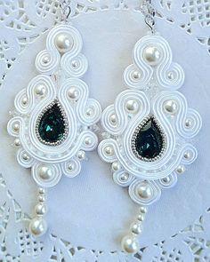 Soutache Bracelet, Soutache Pendant, Soutache Jewelry, Wire Jewelry, Beaded Jewelry, Jewelery, Handmade Jewelry, Bride Earrings, Diy Earrings