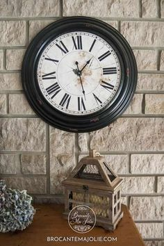 Our living room clock, a vintage looking piece that I love. A perfect French country piece to display on the wall.