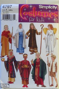 Simplicity 4797 Boys' and Girls' Nativity Costumes