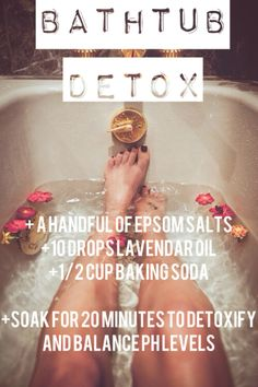 3 best DIY Bath Time Detox recipes - ginger detox, salt detox and clay detox....