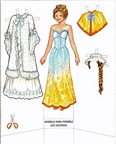 Snow White (with golden hair!): A Princesas Paper Doll | Gabi's Paper Dolls
