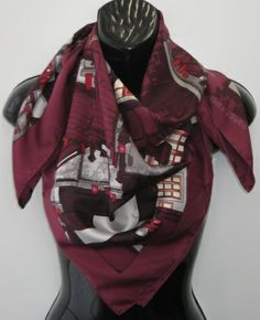 Multi-Colored Wine /& Beige Super Soft Scarf Magic Scarf