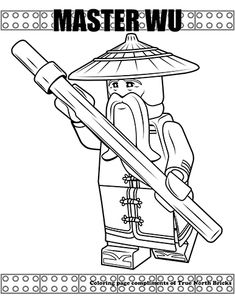 Looking to color LEGO Minifigures? Look no further, True North Bricks has a great selection of Ninjago inspired coloring pages! Tractor Coloring Pages, Ninjago Coloring Pages, Colouring Pages, Coloring Sheets, Coloring Books, Ninjago Party, Kids Pages, Craft Activities For Kids, Digi Stamps