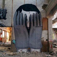 (detail) combo with in Reggiane, a giant abandoned factory, Reggio Emilia, andreacasciu, artist Street Art Utopia, Abandoned Factory, Reggio Emilia, Graffiti, Urban Art, Tractor, Instagram Posts, Artist, Artwork