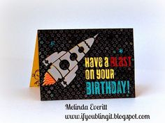 I needed a special card for a very special birthday. My grandson, AJ, was having a 13th birthday...