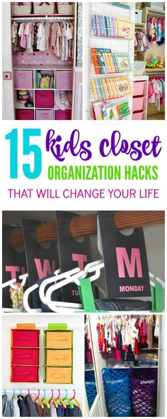 I have some AMAZING Closet Organization Ideas for Kids that will change your life! I know mornings before school around my house get CRAZY and having my kids closets organized really helps with the ge is part of Girls closet organization - Organisation Hacks, Apartment Closet Organization, Kids Room Organization, Organizing Ideas, Organization Ideas For Bedrooms, Laundry Basket Organization, Closet Storage, Kid Closet, Closet Bedroom