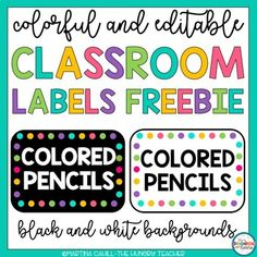 Free Classroom Decor Free Back to School Free Labels Editable LabelsWant more options for label shapes, sizes, and backgrounds? Check out my editable classroom labels pack by *CLICKING HERE**EDITABLE WATER Classroom Labels Free, Preschool Labels, Classroom Library Labels, Preschool Classroom, Classroom Themes, Classroom Organization, Kindergarten, Diy Classroom Decorations, Classroom Resources