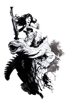 Hanna Dundee from Xenozoic Tales by Mark Schultz