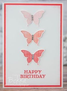 Stampin' Up! UK Feeling Crafty - Bekka Prideaux Stampin' Up! UK Independent Demonstrator: Make in a Moment Ombre Butterflies Take 2