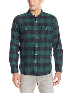YUNY Mens Flannel Plaid Lounge Long-Sleeve Button Down Shirt 15 S