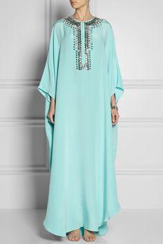 Emilio Pucci | Embellished silk-cady kaftan-style gown | NET-A-PORTER.COM