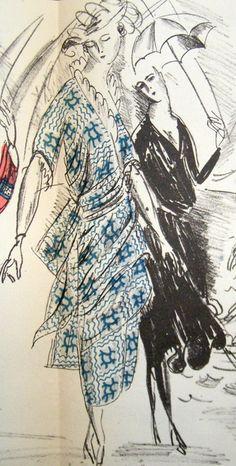 Robes pour l'été, 1920, Gazette du Bon Ton, Pochoir.