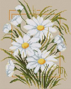 Daisies I Cross Stitch Kit | sewandso