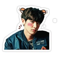 'Cute Chanyeol Sticker by liliidaes Park Chanyeol, Exo Stickers, Printable Stickers, Kpop, Exo Lockscreen, Nct Taeyong, Aesthetic Stickers, Cool Wallpaper, Stickers