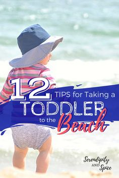 Taking a to the beach is a ton of fun as long as you follow a few tips and are well prepared.  Check out these 12 tips for taking a toddler to the beach...Be prepared for your beach vacation this year with these tips for taking babies, toddlers, and kids