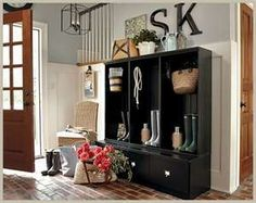 More storage ideas for entry way