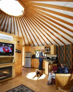 You don't have to be a hippy to live in a yurt... or Mongolian