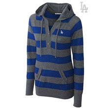 Los Angeles Dodgers Knockout Striped Hooded Sweater by Cutter & Buck Indianapolis Colts, Cincinnati Reds, Pittsburgh Steelers, Pittsburgh Pirates, Buffalo Bills, Green Bay Packers Sweatshirt, Black Sweaters, Sweaters For Women, New England