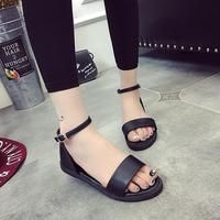 Summer Style Flat Heel Soft Leather Gladiator Sandals - By sexybling.com