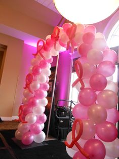 arch designed for fashion show breast cancer aware+ Cancer Survivor Party, Breast Cancer Party, Breast Cancer Fundraiser, Breast Cancer Walk, Breast Cancer Survivor, Breast Cancer Awareness, Awareness Ribbons, Ballon, Volleyball