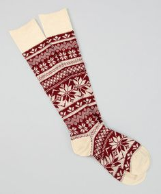 Cream Nordic Knee-High ~ MUK LUKS so cute - wonder if I could use these for Christmas Stockings?