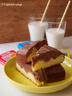 Captain Cook: Κέικ με Πραλίνα και Γιαούρτι Cookbook Recipes, Cake Recipes, Cooking Recipes, Yogurt Cake, Bread Cake, Greek Recipes, Nutella, Cupcake Cakes, Cupcakes