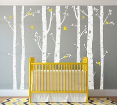 In An Instant Arts original and best selling Birch Tree Wall Decals are easily customized wall decals for childrens rooms or a baby nursery. You can position and trim the birch trees however you like, its so easy to apply the kids can help. This set comes with custom color options,