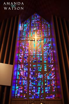 Another photo from our wedding. The GAWGEOUS stain glass window (First Presbyterian in PC, OK)