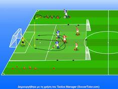 ΠΡΟΠΟΝΗΤΗΣ ΠΟΔΟΣΦΑΙΡΟΥ: 3vs3 Άσκηση σέντρας και μετάβασης Soccer Training, Sports, Training, Soccer, Soccer Drills, Hs Sports, Soccer Coaching, Football Workouts, Sport
