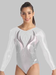 I don't know why, but I love white long sleeved leotards! This one is gorgeous.