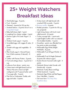 Weight Watchers Breakfast Recipes and Ideas The Holy Mess More from my Weight Watchers Breakfast Recipes With Smart Weight Watchers Breakfast Recipes w/ Healthy Breakfast Ideas For Weight Loss With Eggs Weight Watchers Snacks, Weight Watchers Tipps, Petit Déjeuner Weight Watcher, Weight Watchers Meal Plans, Weight Watchers Breakfast, Weight Watchers Smart Points, Weight Loss Meals, Weight Watchers Program, Weight Watcher Smoothies