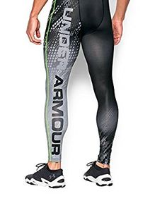 Under Armour Men's UA HeatGear Armour Graphic Compression Leggings Extra Extra Large Black