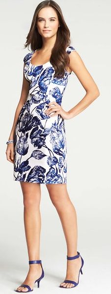 our favorite blue floral dress | 50% all dresses for two days only with the code SUMMERSTYLE