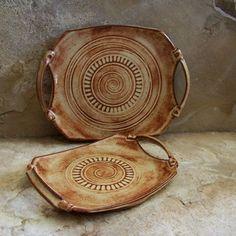 Shino Rust Handmade Stoneware Ceramic Pottery by montezumamudd