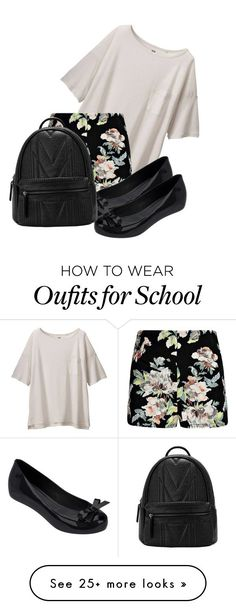 """School Girl"" by k-deniro on Polyvore featuring Uniqlo and Melissa"