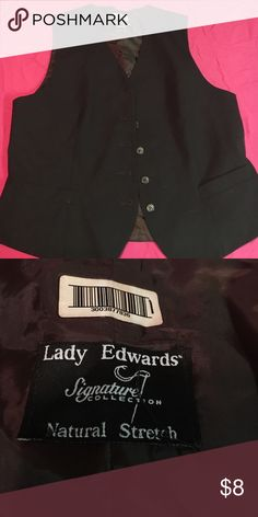 Brown vest A brown best by lady edwards, fits most people S-XL!! Has buttons going down the front. Great condition, no rips or stains, only worn once for a Halloween costume!! Pairs nicely with a white shirt underneath Jackets & Coats Vests