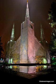 This is where I received my endowments.  What a special day.  Mormon Temple, Portland, Oregon