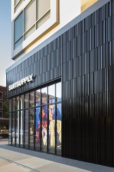 Terracotta Rainscreen Panels - Glazed Panels from Shildan Rainscreen Cladding, Timber Cladding, Exterior Cladding, Mall Facade, Retail Facade, Suit Supply, Building Skin, Keramik Design, Metal Siding