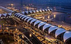Bangkok: modern, beautiful airport
